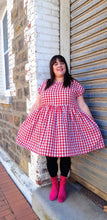 Load image into Gallery viewer, Lady Danger Red Gingham Frock