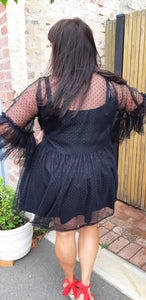 Black and Dramatic Tulle Frock