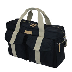 All Aboard Black Unisex Diaper Bag Right