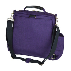 Out & About Purple Convertible Backpack Diaper Bag Crossbody Back