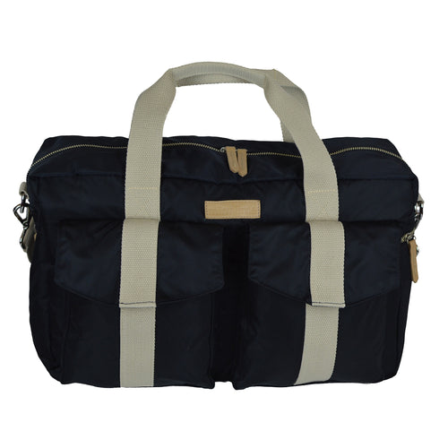 All Aboard Black Unisex Diaper Bag Front