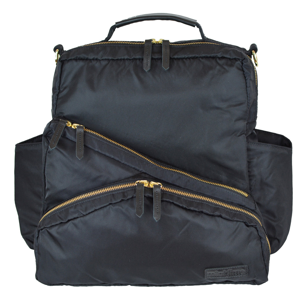 Out & About Black Convertible Backpack Diaper Bag Front