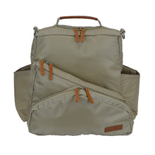 Out & About Tan Convertible Backpack Diaper Bag Front