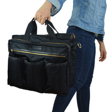 Good 2 Go Black Diaper Bag with Gold Zippers