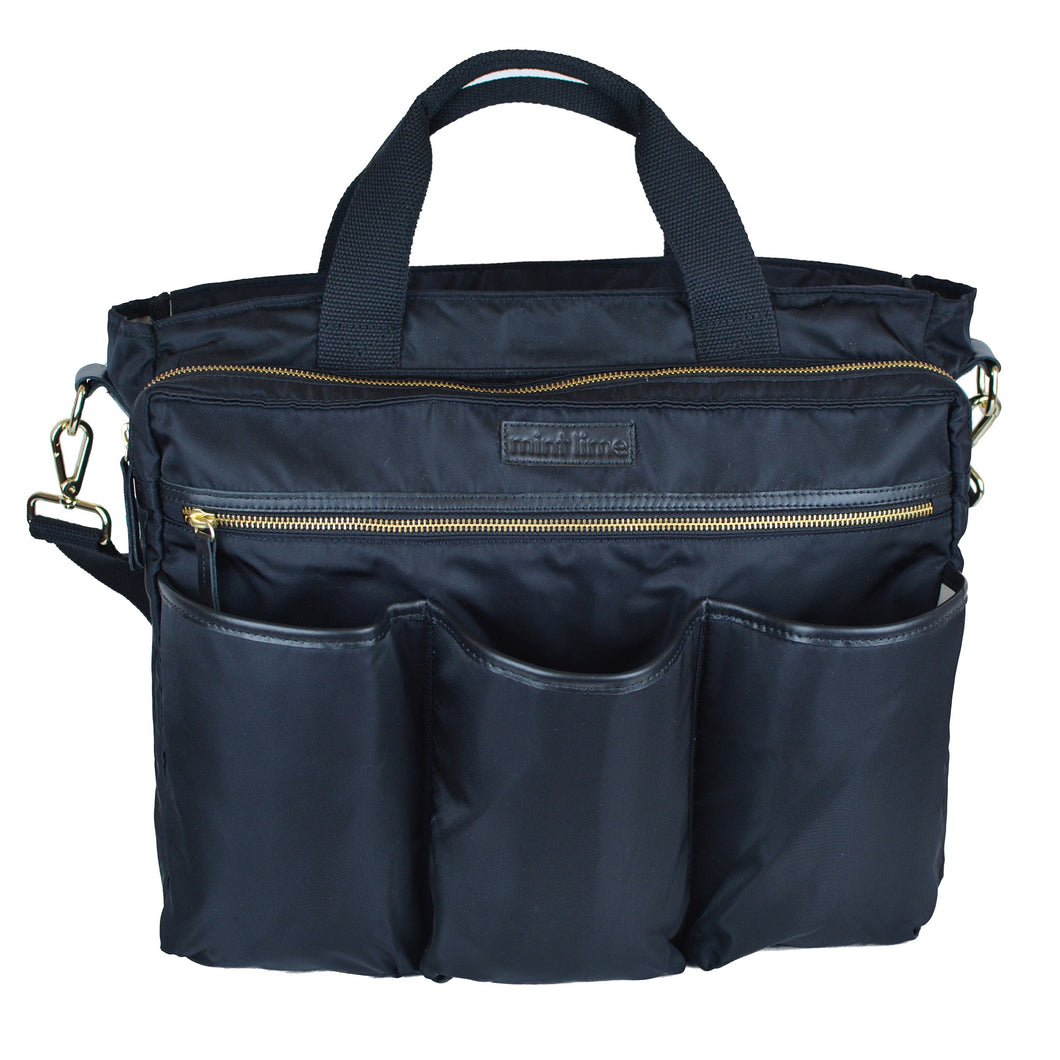 Good 2 Go Large Black Diaper Bag Front