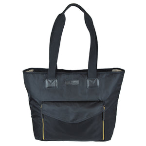Toting & Doting Black Tote Diaper Bag Front