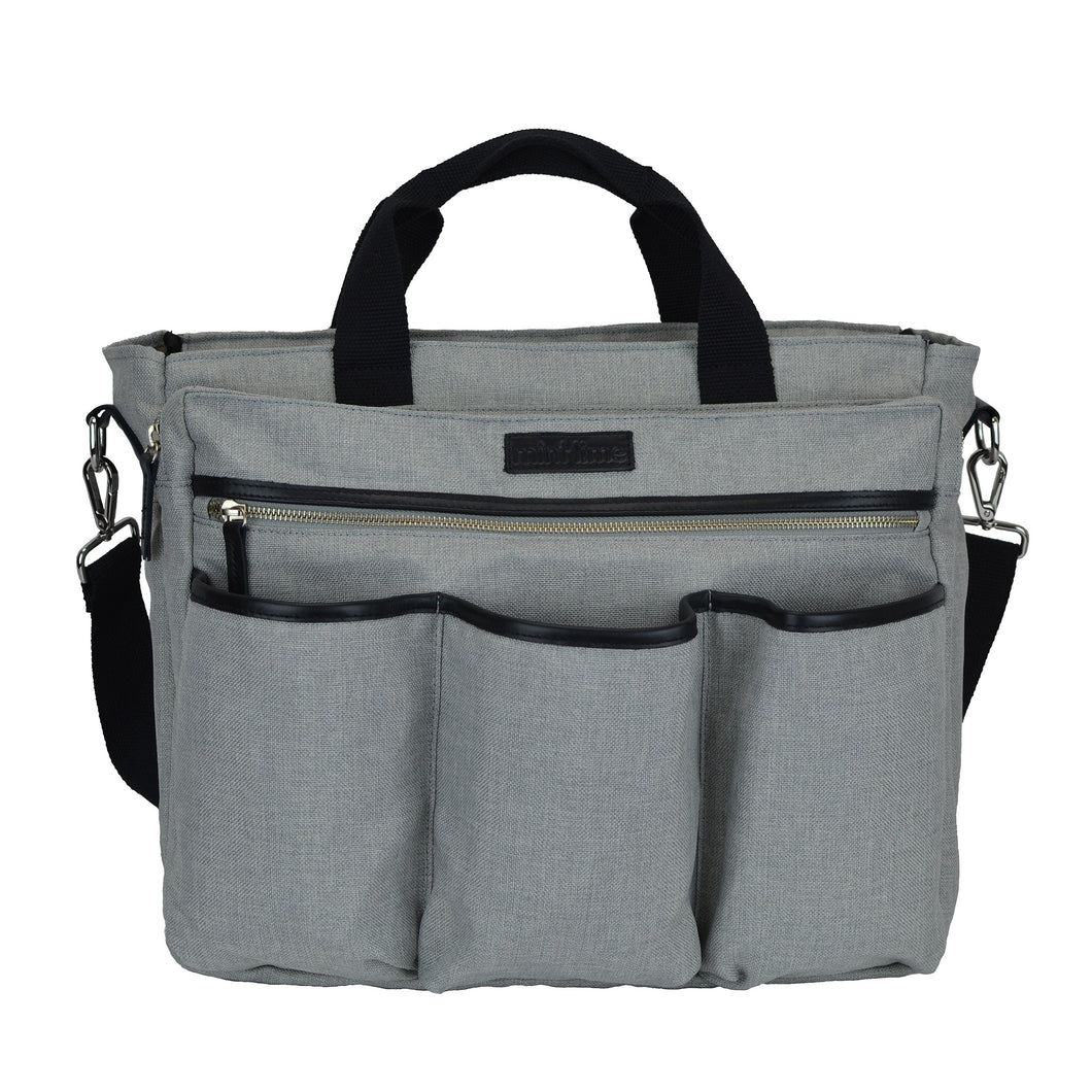 Good 2 Go Large Gray Unisex Diaper Bag