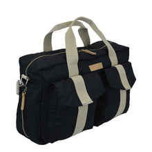 All Aboard Black Unisex Diaper Bag Left