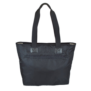 Toting & Doting Black Tote Diaper Bag Back