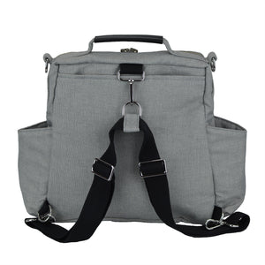 Out & About Gray Convertible Backpack Diaper Bag Backpack Back