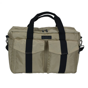 All Aboard Tan Unisex Diaper Bag Front