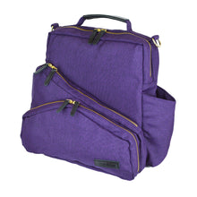 Out & About Purple Convertible Backpack Diaper Bag Side
