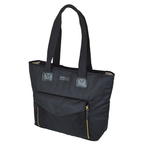 Toting & Doting Black Tote Diaper Bag Side