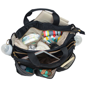 Good 2 Go Large Black Diaper Bag