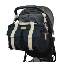 All Aboard Black Unisex Diaper Bag on Stroller