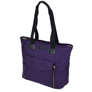 Toting & Doting Purple Tote Diaper Bag Side