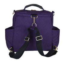 Out & About Purple Convertible Backpack Diaper Bag Backpack Back