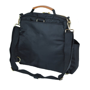 Out & About Black Convertible Backpack Diaper Bag Crossbody Back