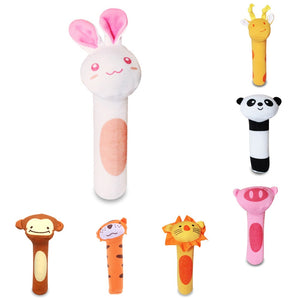 Style Stuffed Handbells Baby Cute Rattles Cartoon Toy