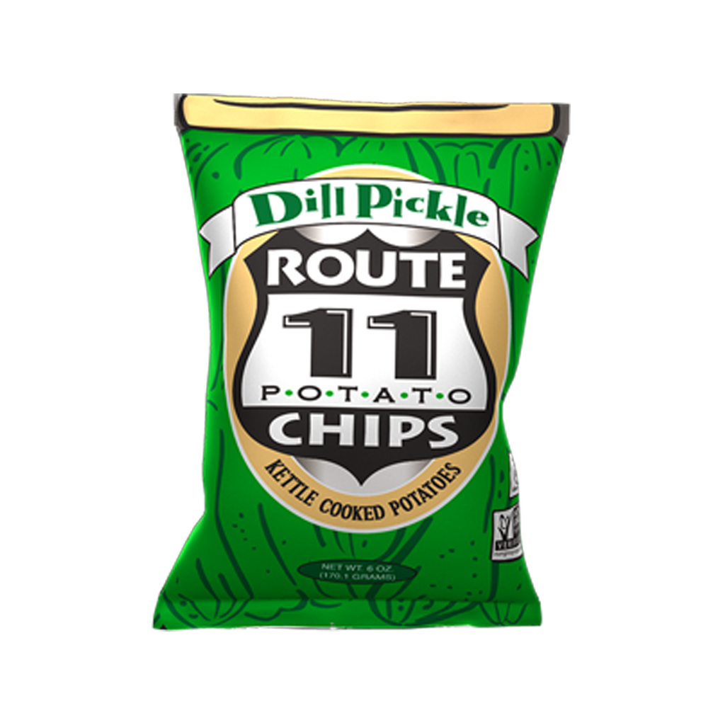 Route 11 Kettle Cooked Dill Pickle צ'יפס בייתי מלפפון חמוץ
