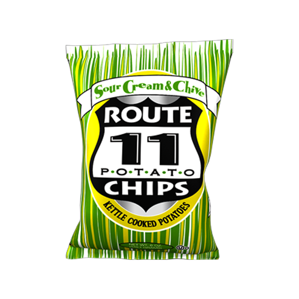 Route 11 Kettle Cooked Sour Cream Chive צ'יפס בייתי בצל שמנת - טעימים