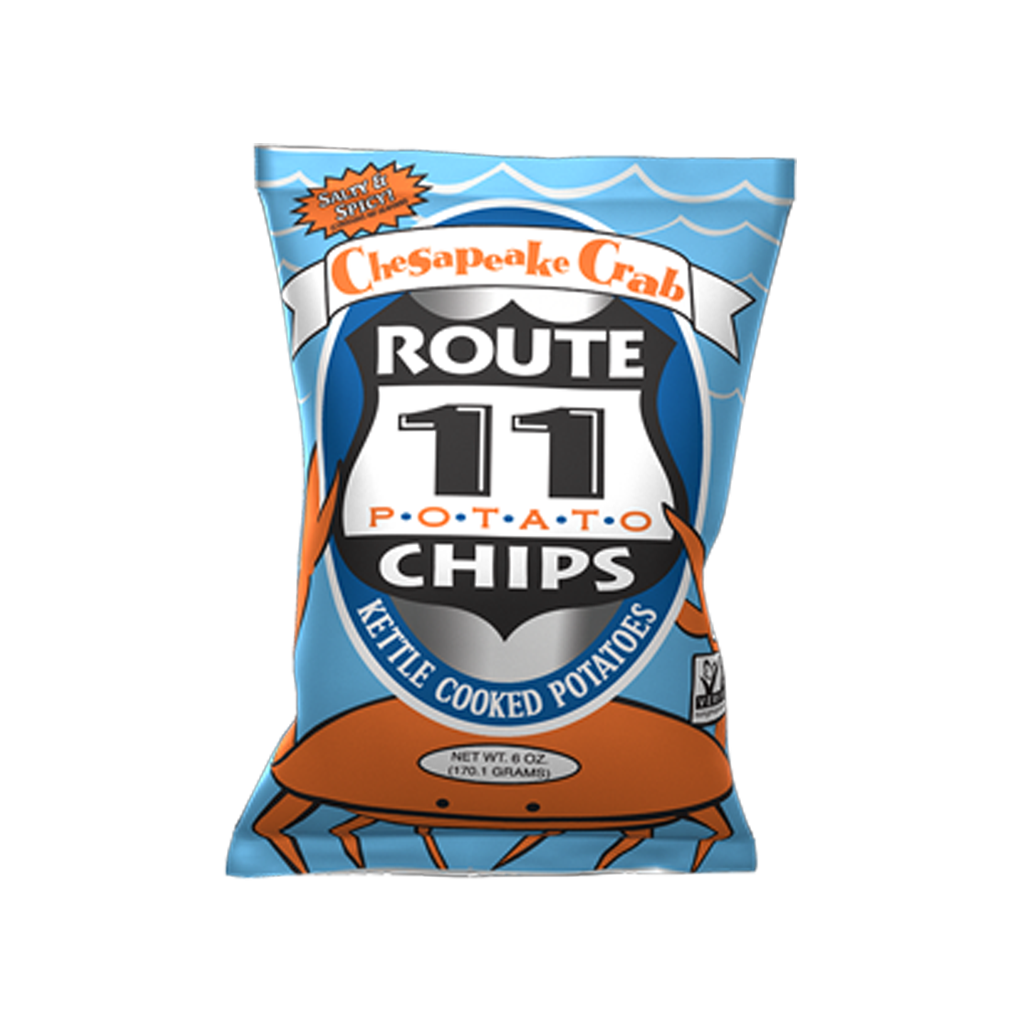 Route 11 Chips  Chesapeake Crab צ'יפס ביתי סרטנים