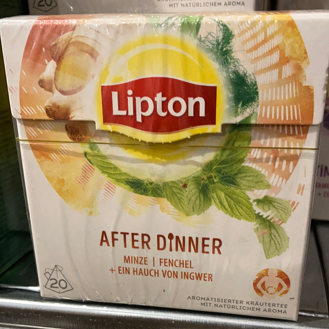 Lipton tea - after dinner תה ליפטון גינגר נענע