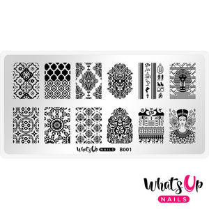 Whats Up Nails-B001 Middle Eastern Stamping Plate