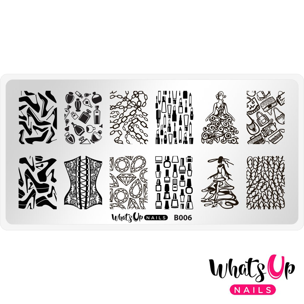 Whats Up Nails- B006 Lá Mode Stamping Plate