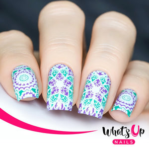 Whats Up Nails-B013 Glass Masterpiece Stamping Plate