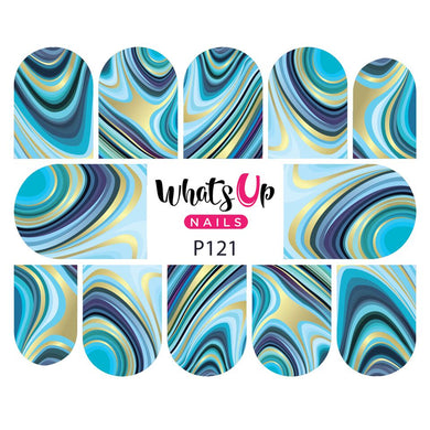 Whats Up Nails-Marbled Like the Sea water decals