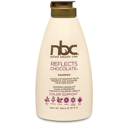 REFLECTS CHOCOLATE SHAMPOO MATIZADOR REACTIVADOR DE COLOR  natural beauty care