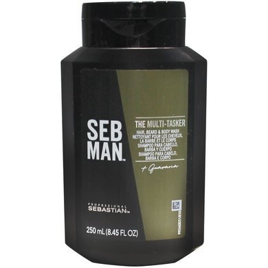 Seb Man The Multistaker 3 en 1 250ml. -  Gel 3 en 1 para el cuerpo, el cabello y la barba