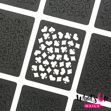 Whats Up Nails - Playing Cards Stencils