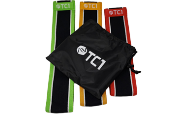 3 Pack TC1 Non-Slip Cloth Resistance Bands, 1 Jar and 1 Belt