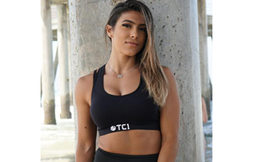 Women's Racerback Sports Bra with TC1 Logo