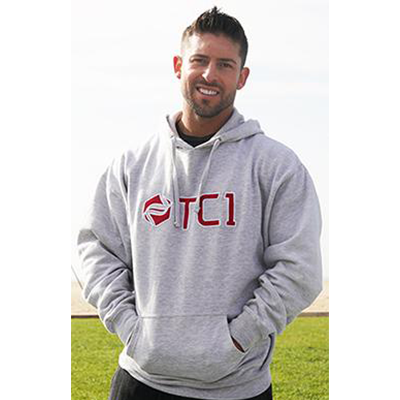 TC1 Gray Hooded Sweatshirt