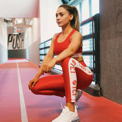 Womens Red Leggings