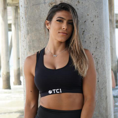 Womens Racerback Sports Bra with TC1 Logo
