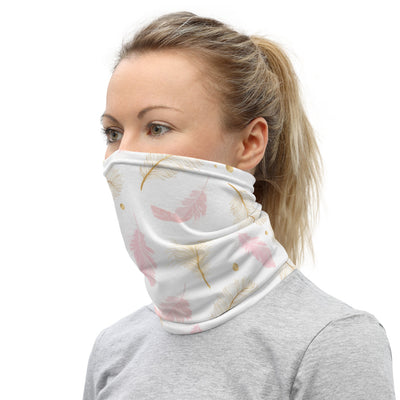Feather Face Mask Headband & Neck Gaiter