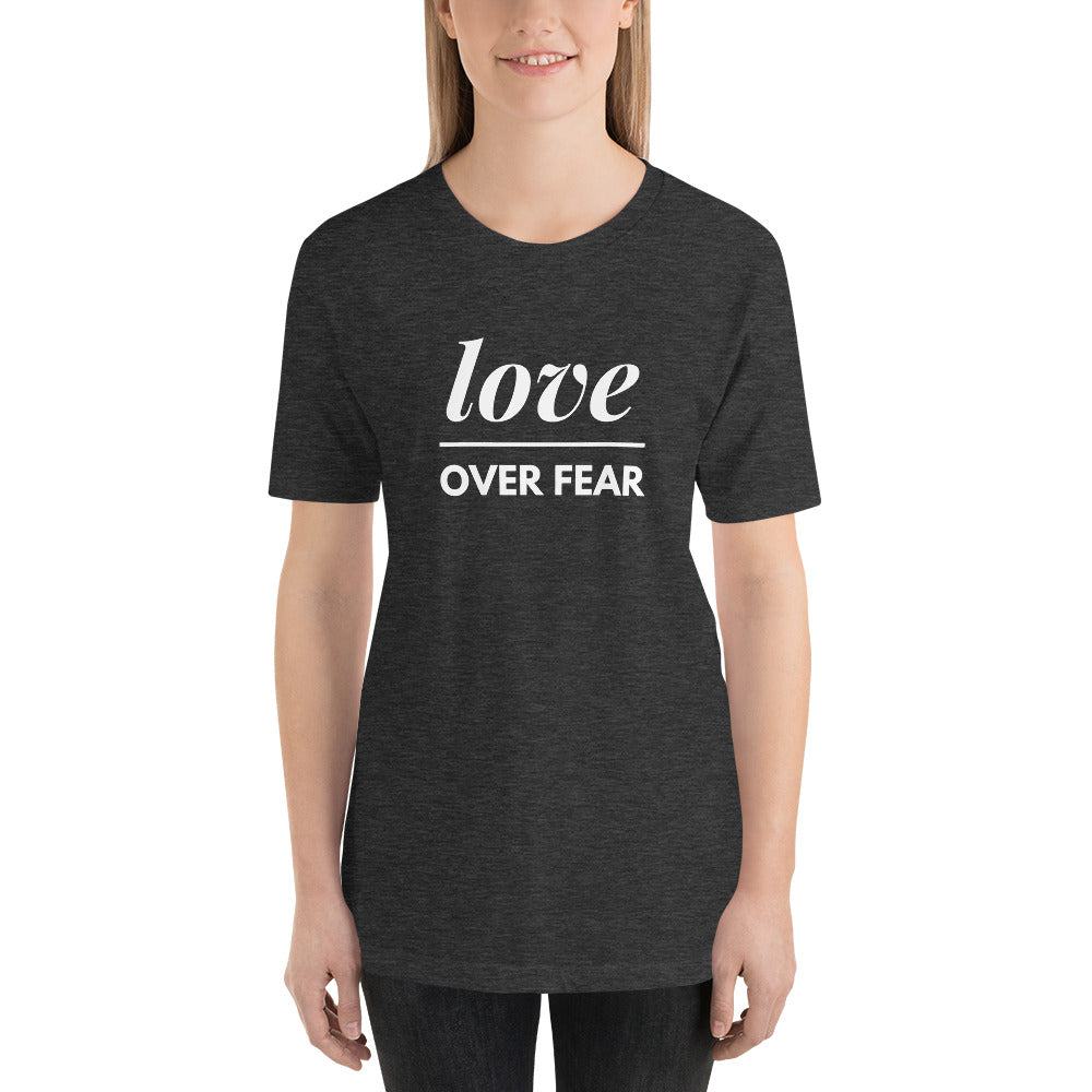 Love Over Fear Lightweight Short-Sleeve T-Shirt