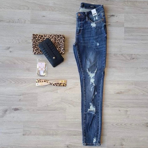 Heavy Distressed Skinny