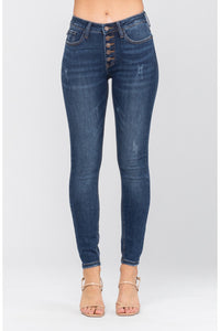 Button Fly Non-Distressed Skinny