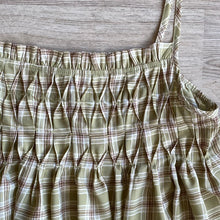 Load image into Gallery viewer, Plaid Smocked Babydoll Tank