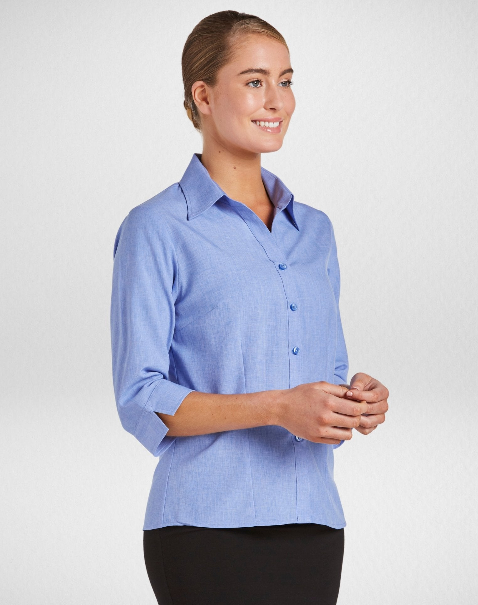 Climate Smart - Ladies semi-fit 3/4 sleeve (sizes 6-28) - Corporate Reflection