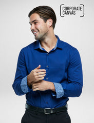 Corporate Canvas - Classic Blue Stretch - Corporate Reflection