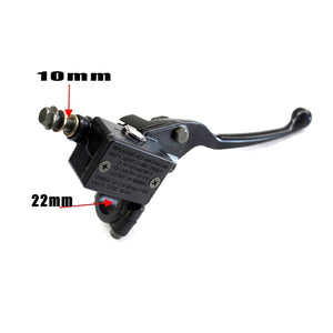 10mm Right Hand Hydraulic Brake Master Cylinder Lever for Dirt Bike ATV Quad Buggy Dune Trail Pit Bikes