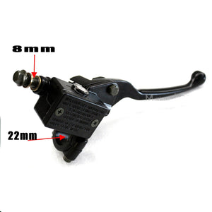 "8mm Front Hydraulic Brake Master Cylinder Right Hand 22mm 7/8"" for  70/90/110/125cc PIT Pro Quad Dirt Trail Bike ATV"