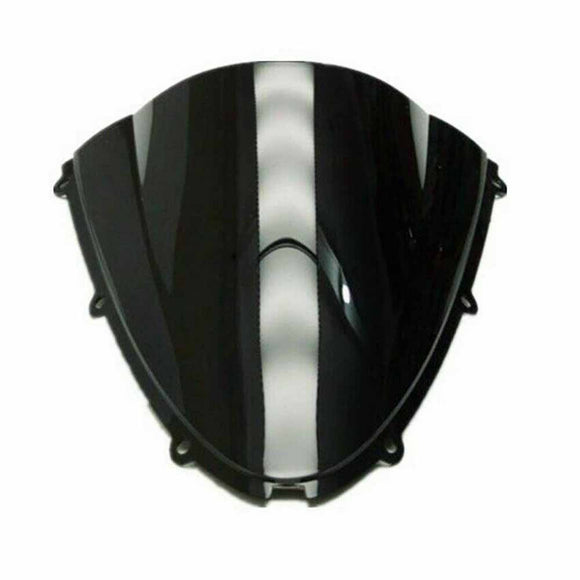Double Windscreen Windshield for Kawasaki Ninja ZX10R 2006-2007 ZX6R 05-08 Black