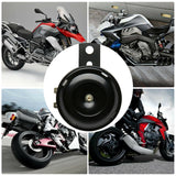 Compact Motor Bike Electric Horn Black 105dB 12 volt Motorcycle Loud w/ Bracket